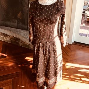 Vintage cotton hippy bohemian Nipon dress